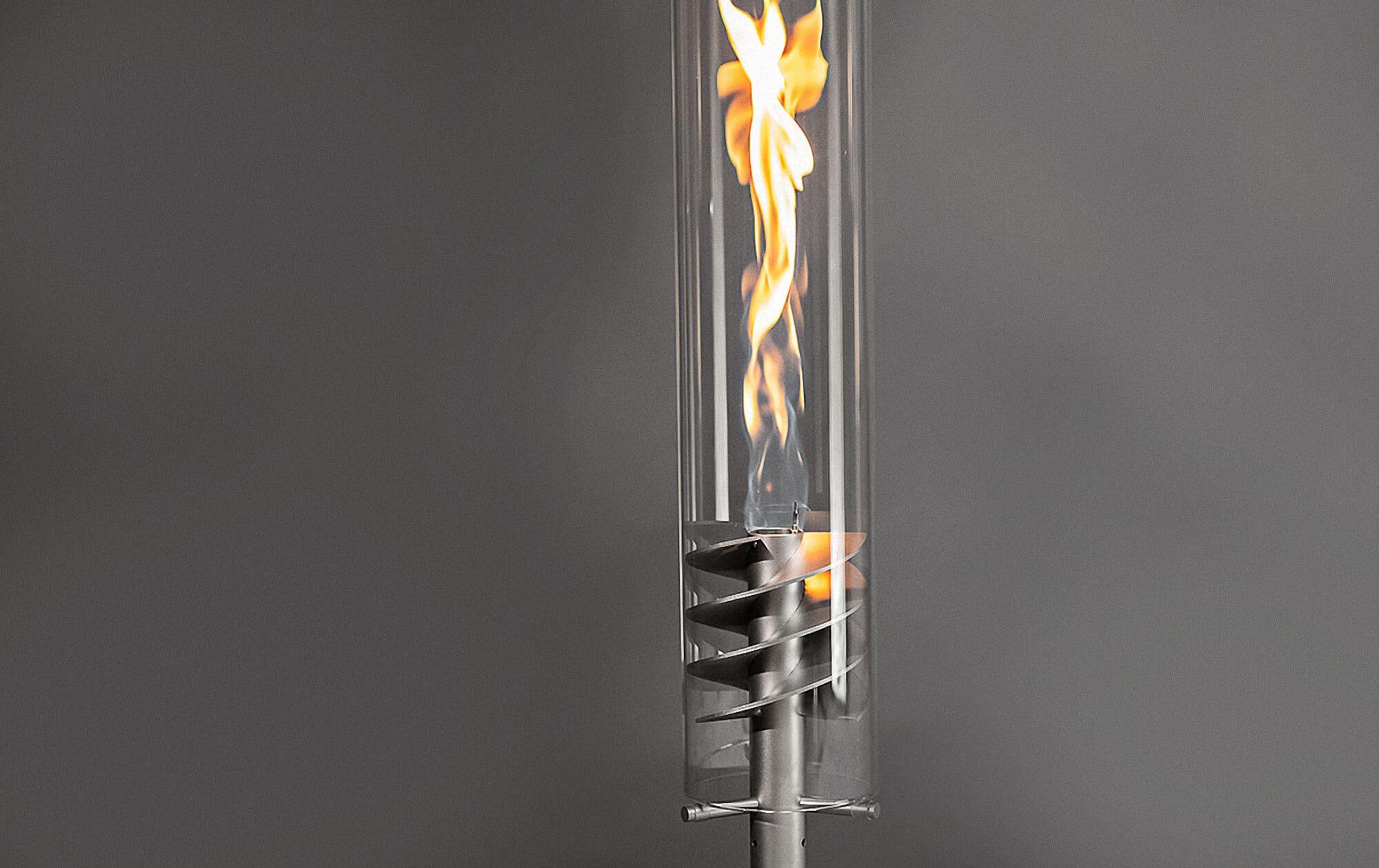 Pottbrenner Gasfackel mit Flamme
